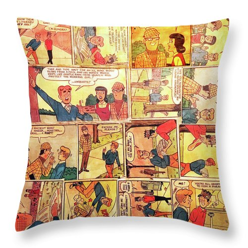 Archie Comics Throw Pillow featuring the mixed media Archie Comics by Judy Tolley