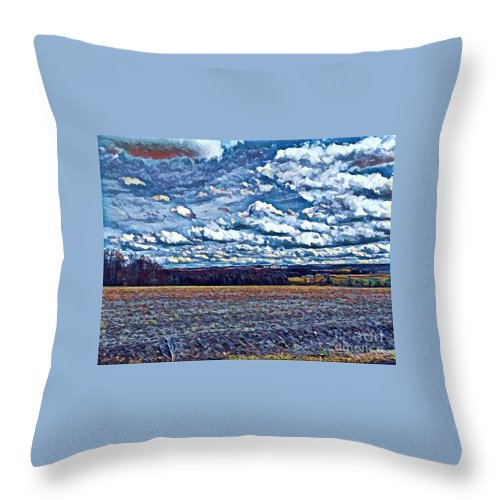 Beautiful Throw Pillow featuring the digital art Archies Farm by Jeffrey Koss