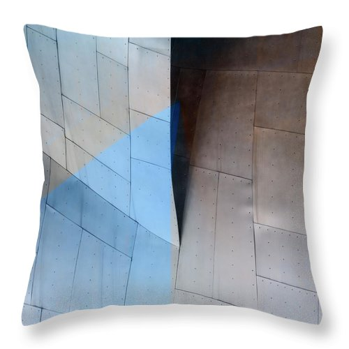 Architecture Throw Pillow featuring the photograph Architectural Reflections 4619e by Carol Leigh