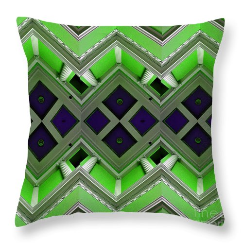 Clay Throw Pillow featuring the photograph Architectural Nightmare IIi by Clayton Bruster