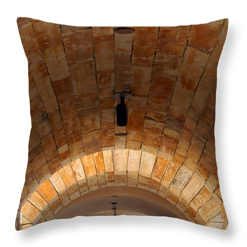 Architecture Throw Pillow featuring the photograph Archway by Jill Reger