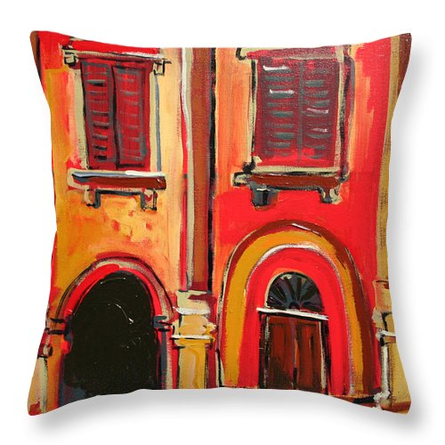 Tuscany Throw Pillow featuring the painting Arco Di Firenze by Kurt Hausmann