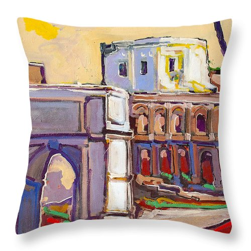 Rome Throw Pillow featuring the painting Arco Di Romano by Kurt Hausmann