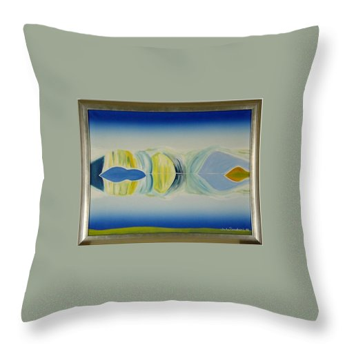 Landscape Throw Pillow featuring the painting Arctic Landscape by Jarle Rosseland