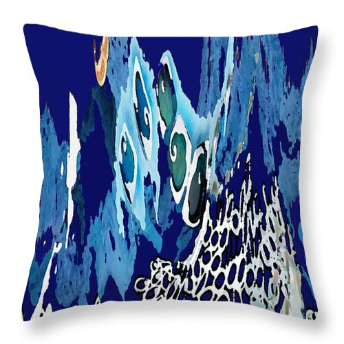 Arctic Sea Throw Pillow featuring the photograph Arctic Sea by Merja Waters