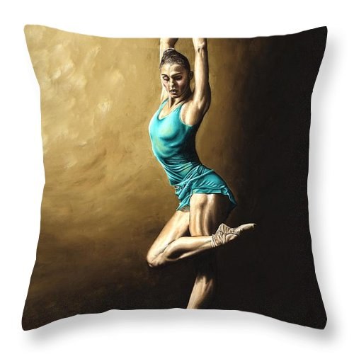 Dance Throw Pillow featuring the painting Ardent Dancer by Richard Young