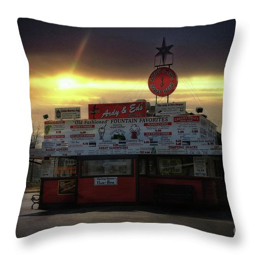 Ardy Throw Pillow featuring the photograph Ardy And Eds by Joel Witmeyer