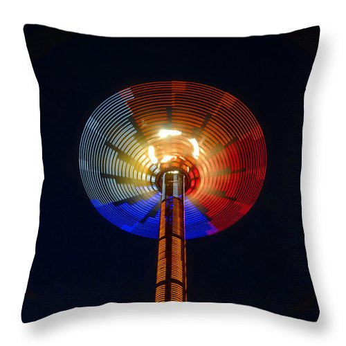 Modern Throw Pillow featuring the photograph Area 51 by David Lee Thompson