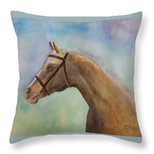 Horse Throw Pillow featuring the painting Arizona by Beverly Johnson