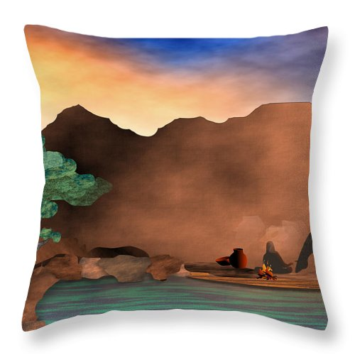 Arizona Throw Pillow featuring the digital art Arizona Sky by Arline Wagner