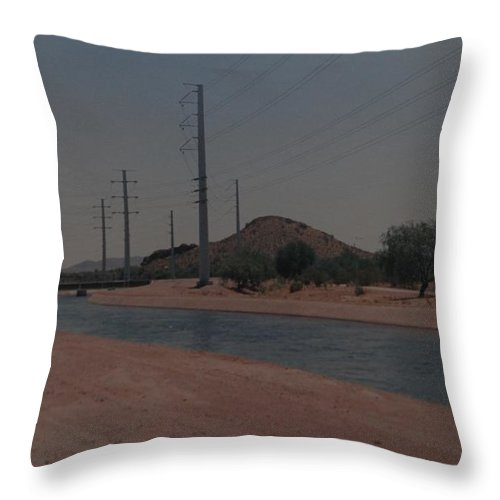 Arizona Throw Pillow featuring the photograph Arizona Waterway by Rob Hans
