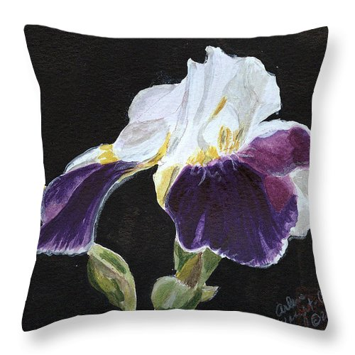 Iris Throw Pillow featuring the painting Arlene by Arlene Wright-Correll