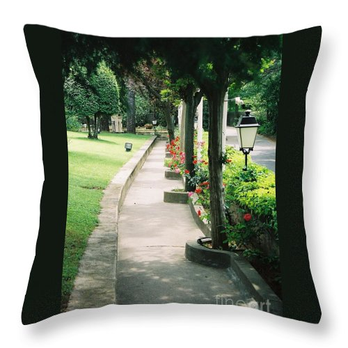 Arles Throw Pillow featuring the photograph Arles Walkway by Nadine Rippelmeyer