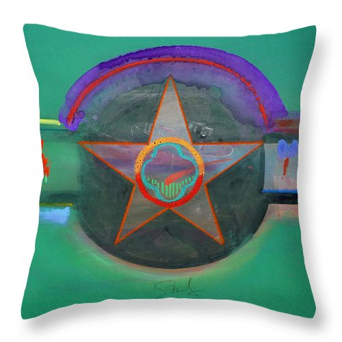 Star Throw Pillow featuring the painting Arlington Green by Charles Stuart
