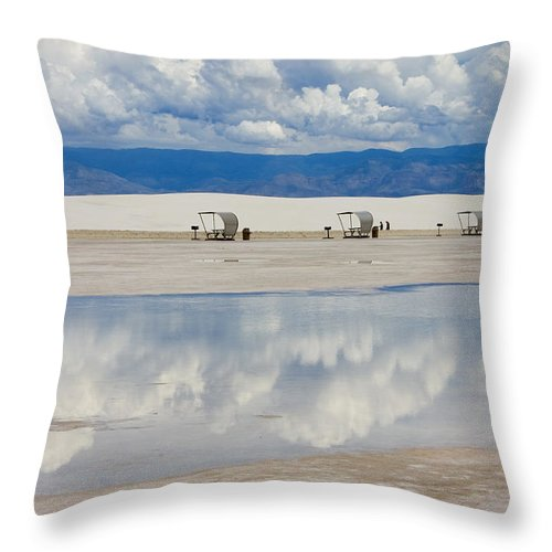 New Mexico Throw Pillow featuring the photograph Armageddon Picnic by Skip Hunt