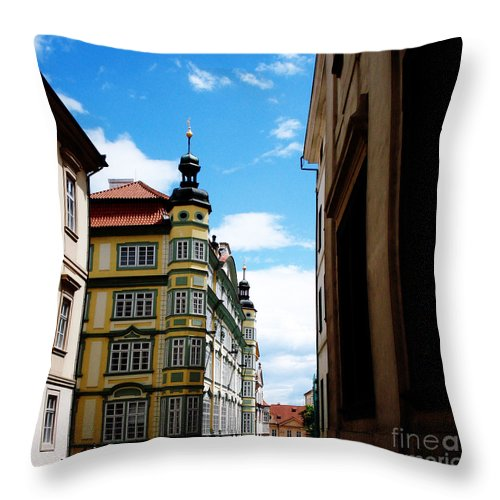 Architecture Throw Pillow featuring the photograph Around Every Corner by Jeff Barrett