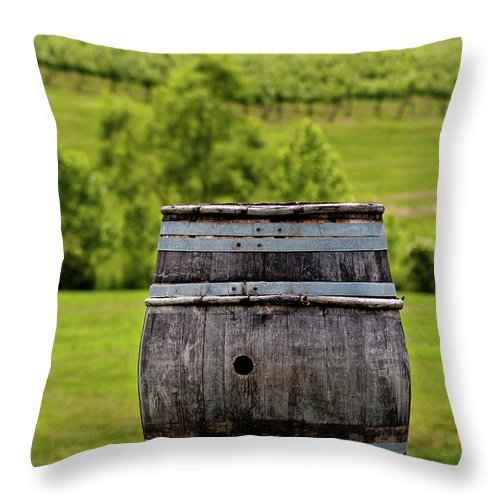 Landscape Throw Pillow featuring the photograph Around The Vineyard by Rob Narwid