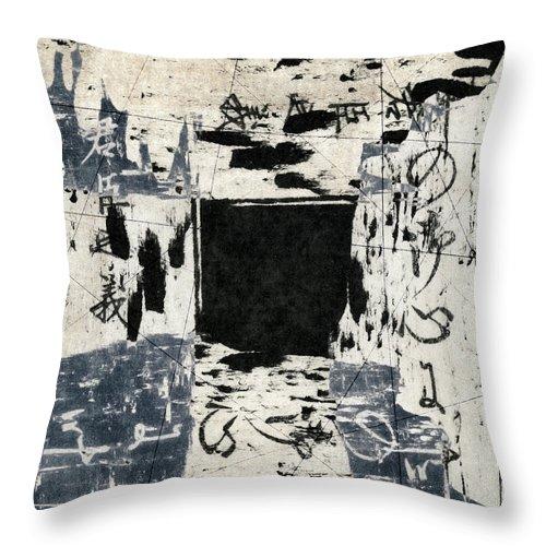 Arrhythmic Throw Pillow featuring the photograph Arrhythmic Number Three by Carol Leigh