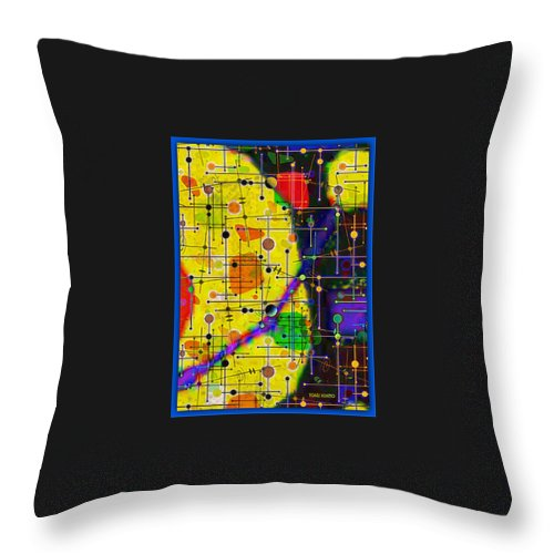 Arriving At The Nu Planet Z-98 Throw Pillow featuring the digital art arriving at the nu planet Z-98 by Tony Adamo