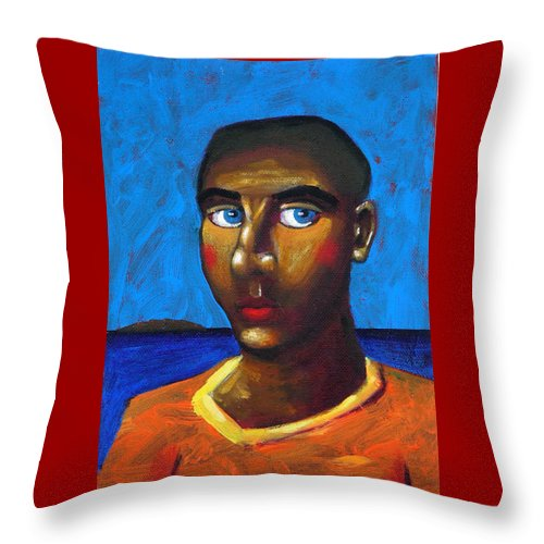 Arsonist Throw Pillow featuring the painting Arsonist by Dimitris Milionis