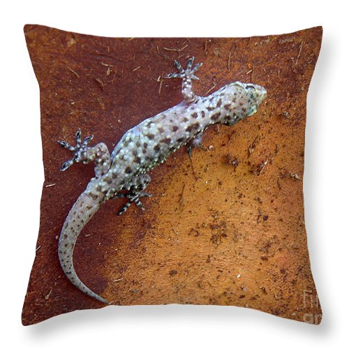 Nature Throw Pillow featuring the photograph Art Among The Ruins - Too by Lucyna A M Green