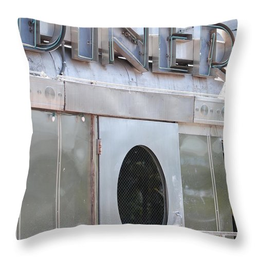 Architecture Throw Pillow featuring the photograph Art Deco Diner by Rob Hans