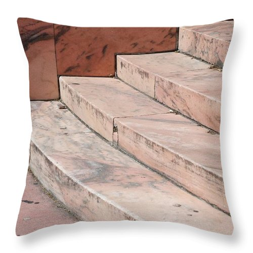 Architecture Throw Pillow featuring the photograph Art Deco Steps by Rob Hans