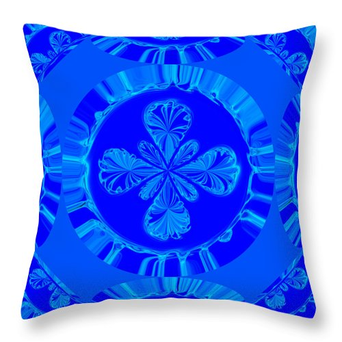 Design Throw Pillow featuring the photograph Art In Blue by Connie Mitchell