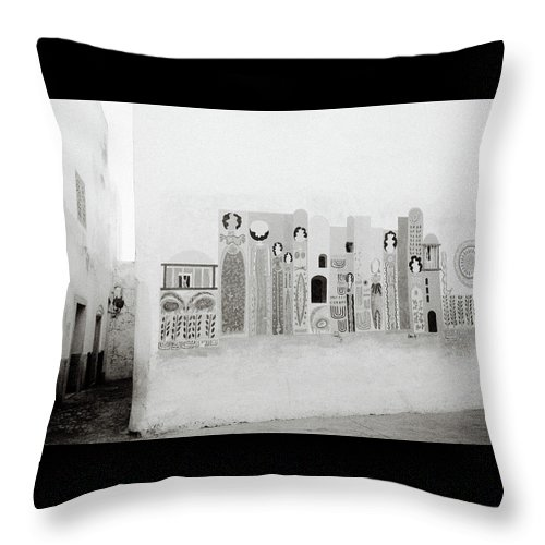 Graffiti Throw Pillow featuring the photograph Art In The Casbah by Shaun Higson