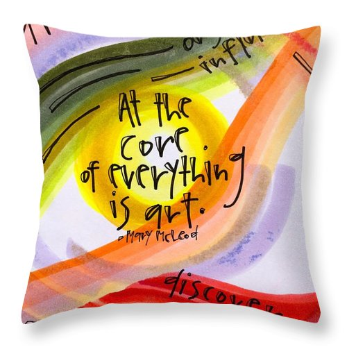 Art Throw Pillow featuring the photograph Art is at the core. by Vonda Drees