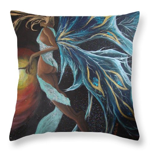 Figure Throw Pillow featuring the painting Art Is Magic by Glory Fraulein Wolfe