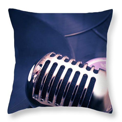 Broadcast Throw Pillow featuring the photograph Art Of Classic Communication by Jorgo Photography - Wall Art Gallery