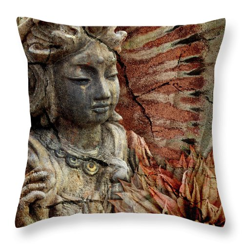Buddhist Throw Pillow featuring the painting Art Of Memory by Christopher Beikmann