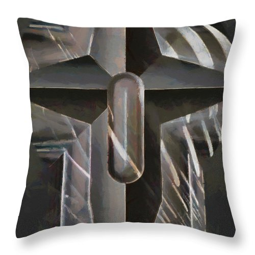 Digital Compositions Throw Pillow featuring the digital art Art Of The Holy Cross by Mario Carini
