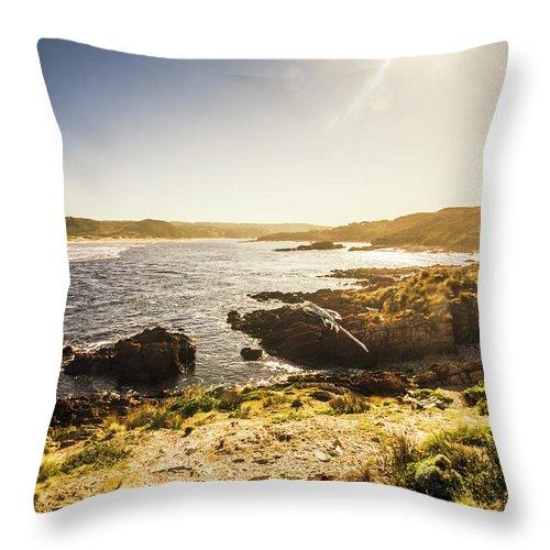 Arthur River Throw Pillow featuring the photograph Arthur River Tasmania by Jorgo Photography - Wall Art Gallery