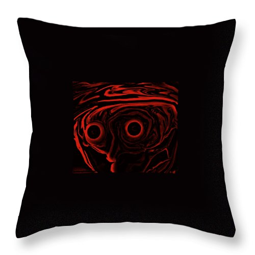 Art Painting Abstract Throw Pillow featuring the digital art Artie by Robert aka Bobby Ray Howle