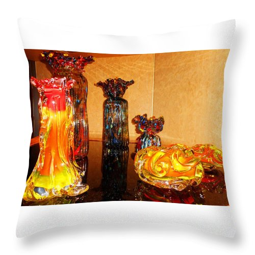 Glass Throw Pillow featuring the photograph Artistic Glass 2 by Ron Kandt
