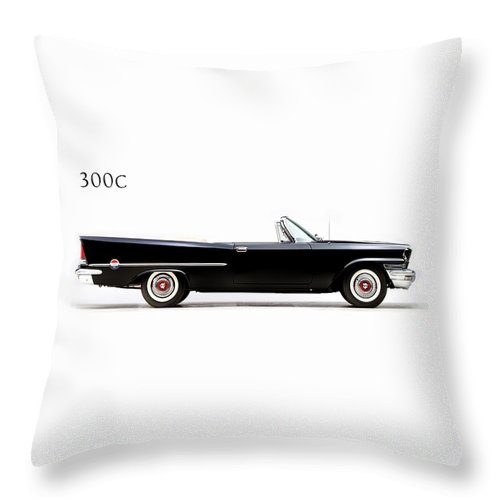Chrysler 300 Throw Pillow featuring the photograph Chrysler 300c 1957 by Mark Rogan
