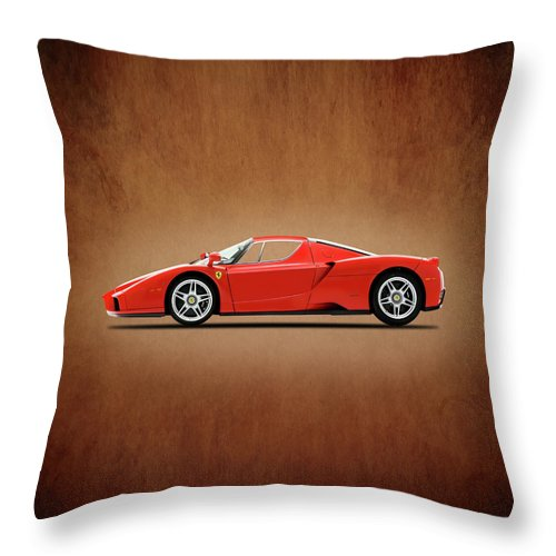 Ferrari Enzo Throw Pillow featuring the photograph Ferrari Enzo by Mark Rogan