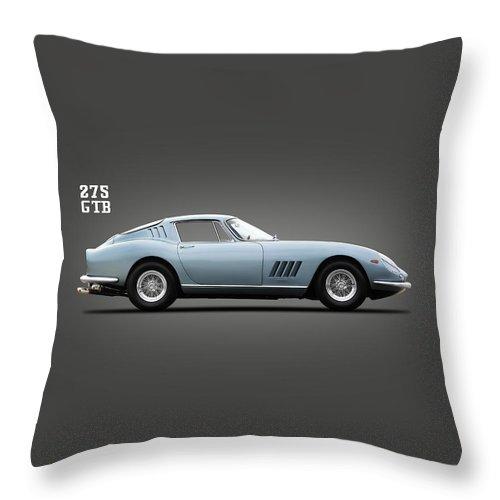 Ferrari 275 Throw Pillow featuring the photograph Ferrari 275 Gtb by Mark Rogan