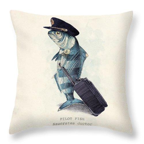 Pilot Throw Pillow featuring the digital art The Pilot by Eric Fan