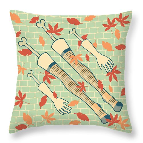 Legs Throw Pillow featuring the drawing Fall In Love by Freshinkstain