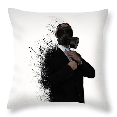 Gas Throw Pillow featuring the photograph Dissolution of man by Nicklas Gustafsson