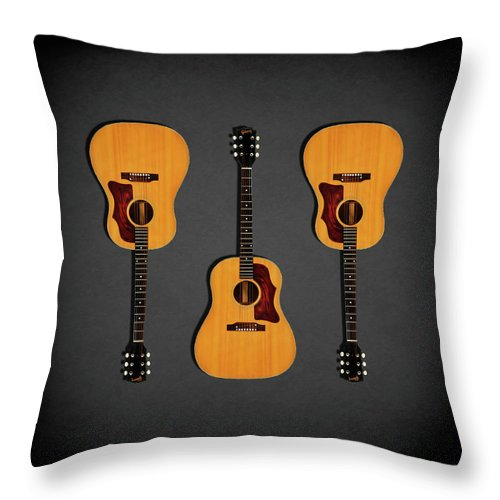 Gibson J-50 Throw Pillow featuring the photograph Gibson J-50 1967 by Mark Rogan