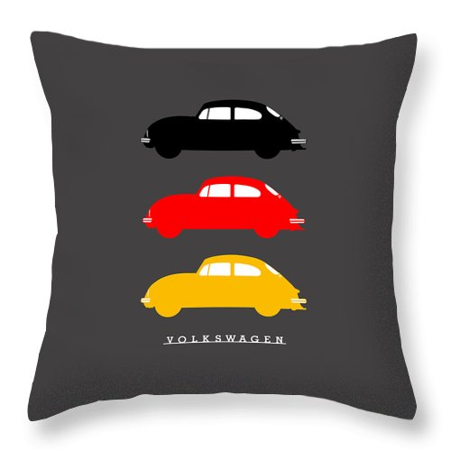 Vw Beetle Throw Pillow featuring the photograph German Icon - Vw Beetle by Mark Rogan