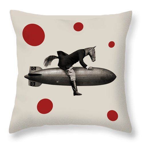 Horse Throw Pillow featuring the photograph Animal24 by Francois Brumas