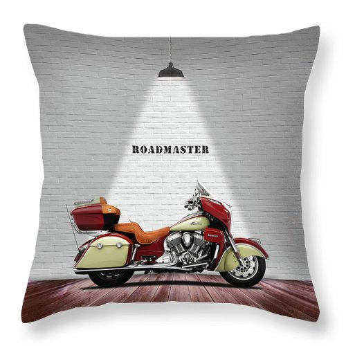 Indian Roadmaster Throw Pillow featuring the photograph The Roadmaster by Mark Rogan