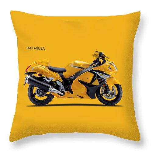 Suzuki Hayabusa Throw Pillow featuring the photograph Hayabusa In Yellow by Mark Rogan