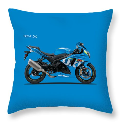 Suzuki Gsx R1000 Throw Pillow featuring the photograph Suzuki Gsx R1000 by Mark Rogan