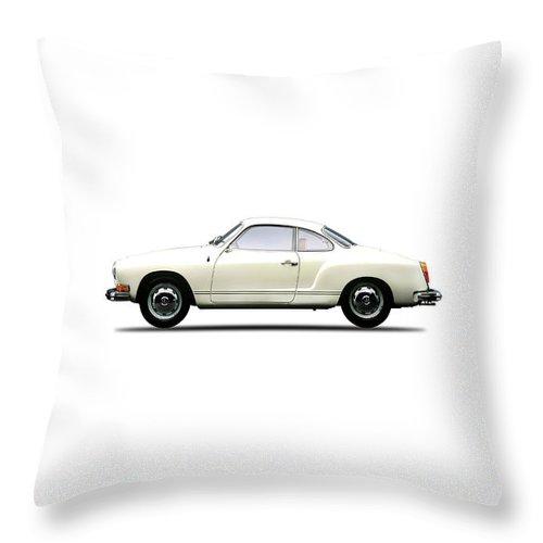 Vw Throw Pillow featuring the photograph The Karmann Ghia by Mark Rogan